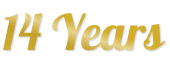 Selo de aniversário - 14 Anos de Terra Nutri